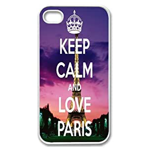 Diy Yourself Apple iPhone 6 4.7 4G 6 4.7 Eiffel Tower Cute Keep Calm and Love Paris Design WHITE Sides case cover Skin Cover Protector Accessory Vintage Retro b4cyERagO76 Unique Comes in case cover Cartel Packaging