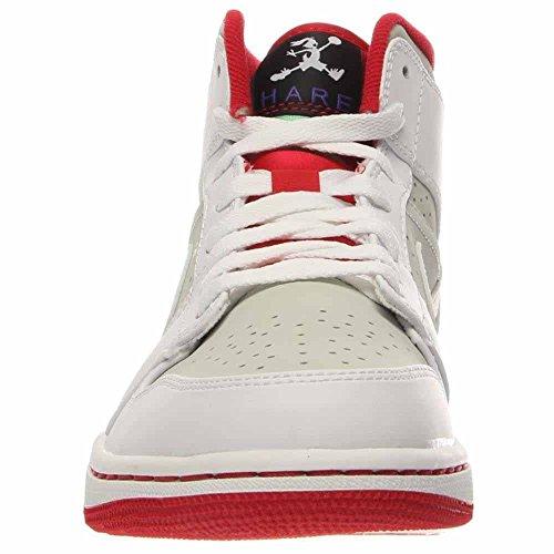 1 lght True Rojo Blanco blk de NIKE Exterior White Hombre Air Deporte Zapatillas WB Jordan Red Silver para Mid Gris qWEFC