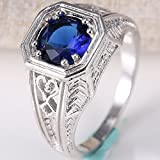 925 Silver Ring Tanzanite Mysterious Rainbow Topaz Women Men Wedding Size 6-10 (7)