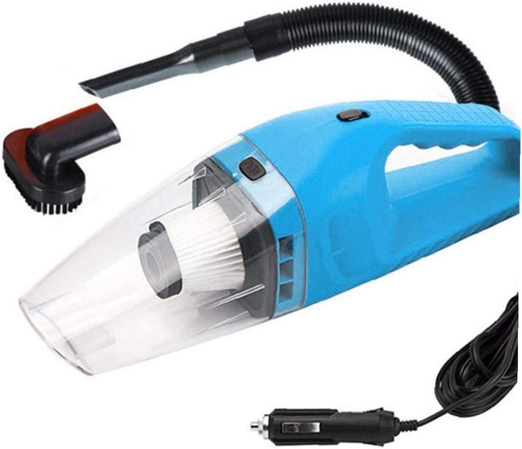 Newin Star Limpiador Coche vacío, Aspiradora 12V 120W de Alta Potencia con conexión de Cable portátil de Coches, Wet & Dry Uso, tapicería de Coches Limpiador Azul: Amazon.es: Deportes y aire libre