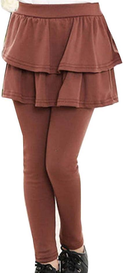Niñas Leggings con Falda Mallas Pantalones Elásticos Invierno ...