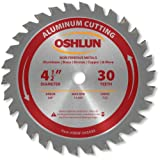 Oshlun SBNF-045030 4-1/2-Inch 30 Tooth TCG Saw Blade with 3/8-Inch Arbor for Aluminum and Non Ferrous Metals