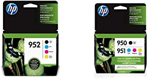 HP 952 | 4 Ink Cartridges | Black, Cyan, Magenta, Yellow | F6U15AN, L0S49AN, L0S52AN, L0S55AN & 950 & 951 | 4 Ink Cartridges | Black, Cyan, Magenta, Yellow | CN049AN, CN050AN, CN051AN, CN052AN