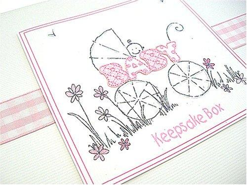 color rosa Cochecito A5 Caja de recuerdos