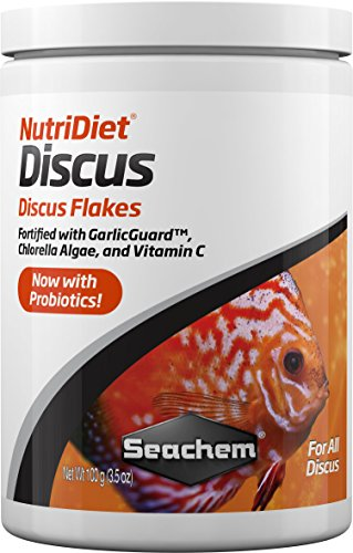 (Nutridiet Discus Flakes with Probiotics, 100g/3.5 oz)