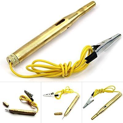 DC 6V 12V 24 Volts Voltage Gauge Test Pen Voltmeter Circuit Car Truck Motorcycle Tester LED Lamp