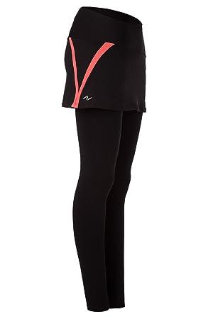 Naffta Tenis Padel - Falda Pantalón para mujer, color negro/coral medio, talla S: Amazon.es: Deportes y aire libre