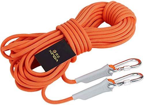 クライミングロープ家庭火災緊急避難ロープ10 M 20 M 30 M多目的ロープ安全ロープハイキングキャンプ救助ロープ、直径12 mm。,30M