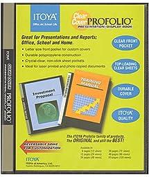 Itoya Clear Cover Portfolio Presentation Books - 36 Pages - 72 Views 1 pcs sku# 1842119MA