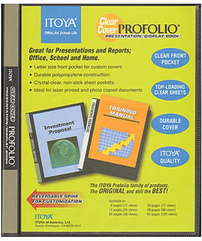 Itoya Clear Cover Portfolio Presentation Books 36