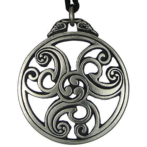 (Pewter Celtic Knot Triscele Triskelion Pewter Pendant Necklace)