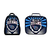 Officially Licensed NFL Lightning Kids Sports Backpack and Lunch Kit, Tennessee Titans