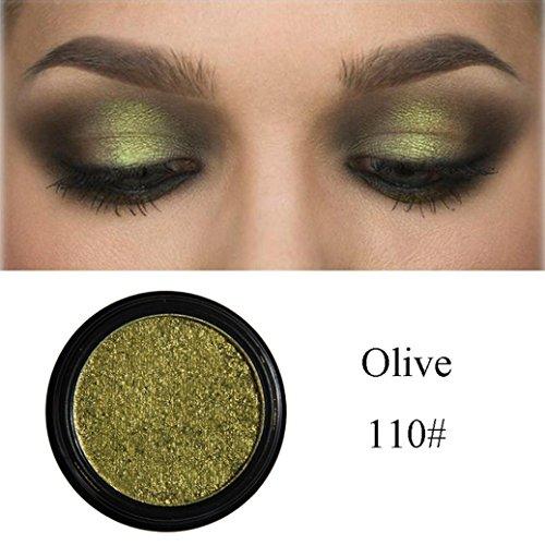 r Waterproof Metallic Shimmer Glitter Eye Shadow Powder Palette Lasting Natural Eyeshadow Cosmetic Makeup Set (110#) (Duo Lip Colour Palette)