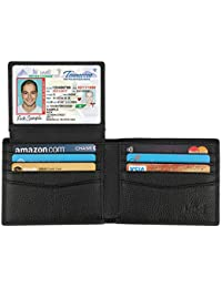 Wallet for Men-Genuine Leather RFID Blocking Bifold...
