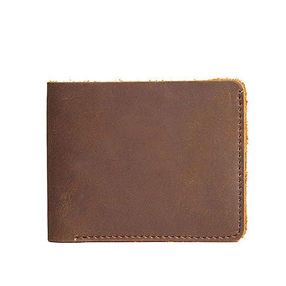 1709be60a950 Image Unavailable. Image not available for. Color  Mens Handmade Genuine  Leather Premium Vintage Wallet Bifold Wallet Vintage Front Pocket Wallets