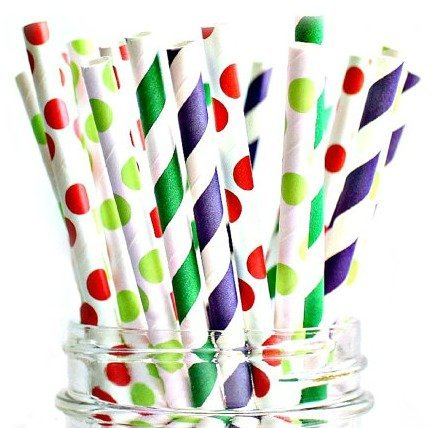 Paper Straws Of The Very Hungry Caterpillar Style By A Charming Galore – Set Of 100 Disposable Straws – Biodegradable & Eco Friendly – Wide Variety Of Colors & Patterns – Best Party Decoration Supplies