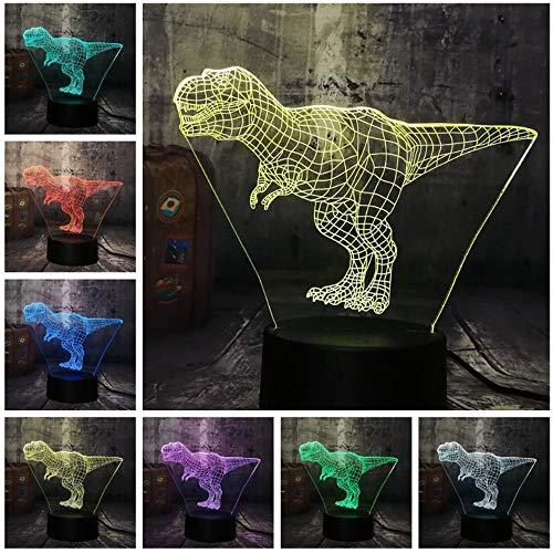 7 farbige 3D-Nachtlicht-LED Animal Table Lamp RGB Night Light USB Home Bedroom Living Room Decoration Kids Toys…