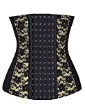 luxilooks Womens Waist Cincher Shaper Slimmer Underbust Steel Boned Corset Plus Size(Black Lace, Large)