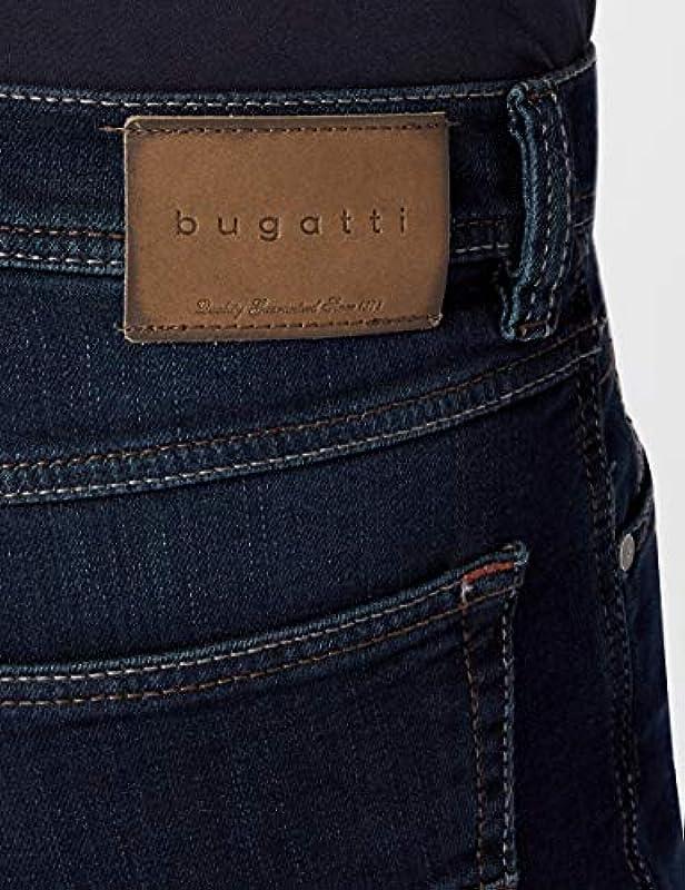 bugatti Męskie spodnie jeansowe Straight Leg 3280D R-16640: Odzież