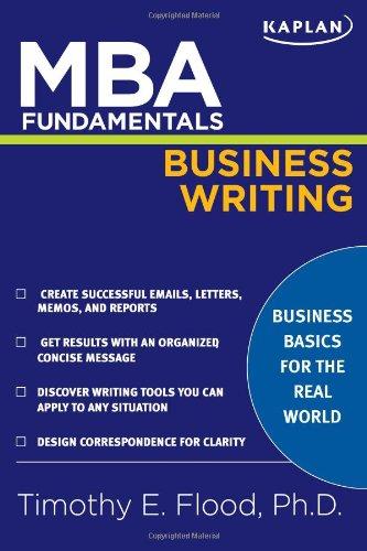 MBA Fundamentals Business Writing (Kaplan Test ()