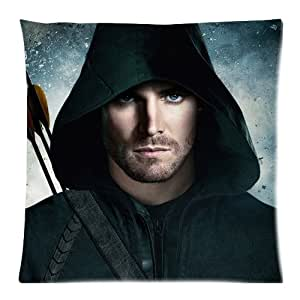 Green Arrow Custom Zippered Pillow Cases 18x18 (Twin sides)