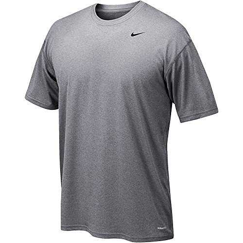 Grey Nike Legend (Nike Team Legend Youth Short-Sleeve Crew Training T-Shirt, X-Large, Carbon Heather)