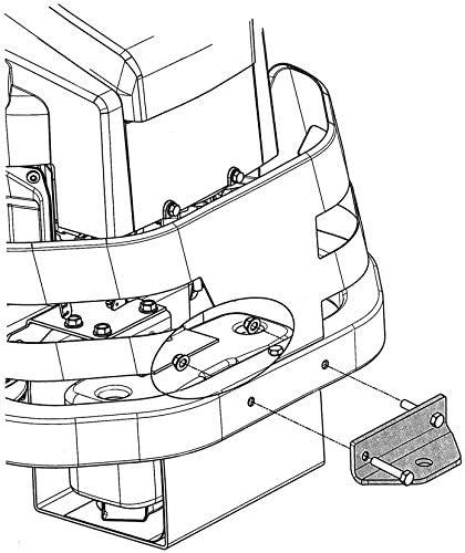 Zero Turn Mower Rear Hitch Kit Trailer Hitch for Husqvarna RZ and Z200 Series 587481201
