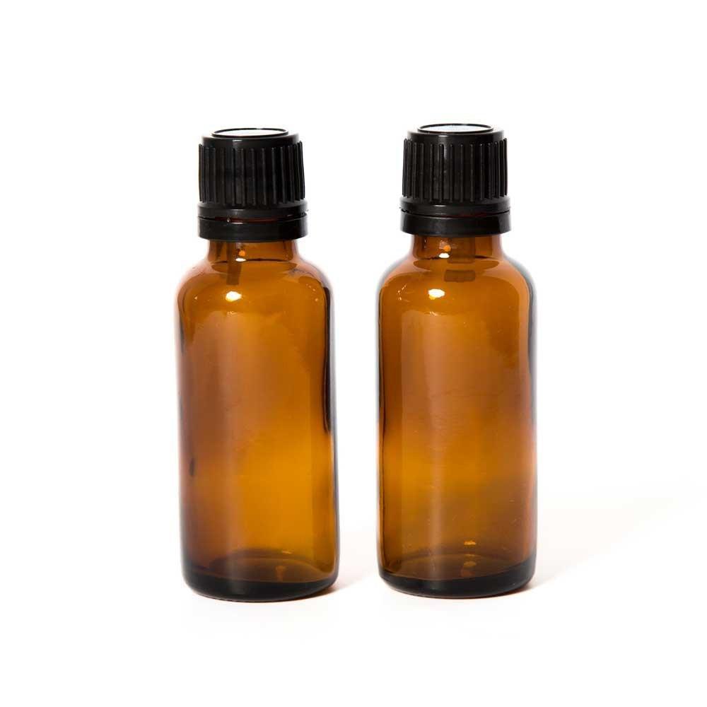 Edens Garden Empty Amber Glass Bottles for Essential Oils, 2 Pack- 30 ml