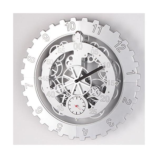 "TECHTONGDA 18"" Mechanical Style Gear Elements Quartz Movement Wall Clock Decorative Modern Steampunk Wheel Clock 5"