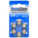 HearClear Hearing Aid Batteries Size 675 , PR44 (60 Batteries)