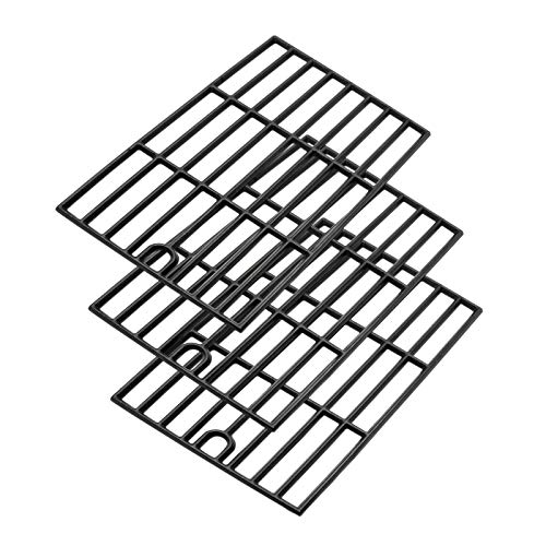 (Uniflasy Cast Iron Cooking Grates Replacement Parts for Kenmore 148.16156210, 148.1637110, Master Forge 3218LT, 3218LTM, 3218LTN, E3518-LP, L3218, Perfect Flame SLG2007D, Set of 3)