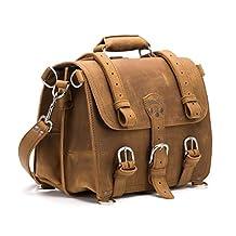 Saddleback Leather Classic Briefcase - The Original, 100% Full Grain Leather, Saddleback Executive Briefcase Bag. Converts into Backpack.