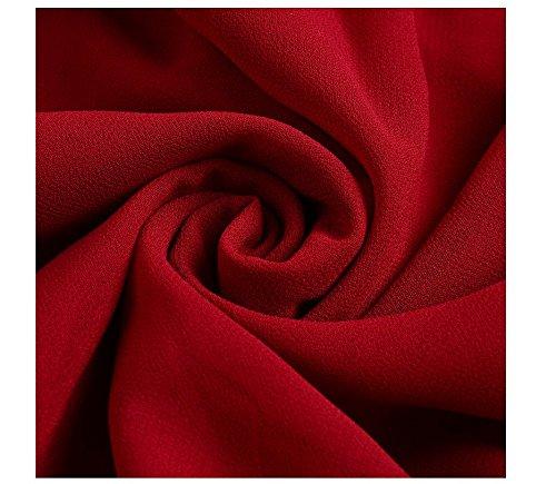 damas CC vestido Medium de fiesta Gasa Rojo cóctel formal mujeres de Full vestido noche CD honor gxEnEqrTf