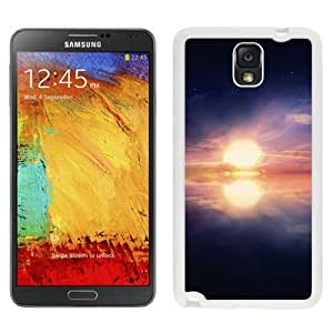 NEW Unique Custom Designed Samsung Galaxy Note 3 N900A N900V N900P N900T Phone Case With Surreal Calm Ocean Sunset_White Phone Case