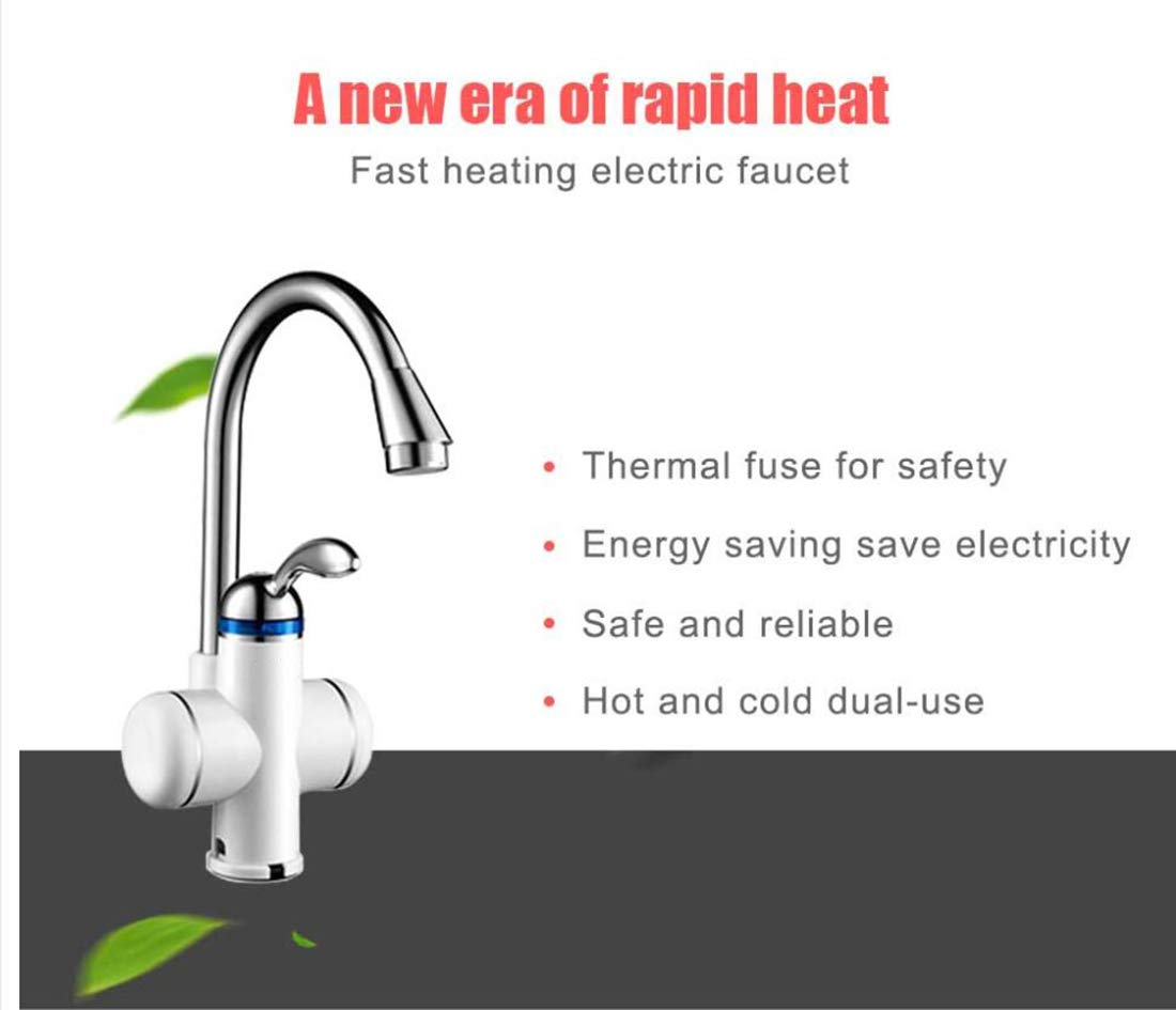 Electric Instant Water Heater Tap Kitchen Tankless Instantaneous Hot Water Faucet Heater Cold Heating 220V - - Amazon.com