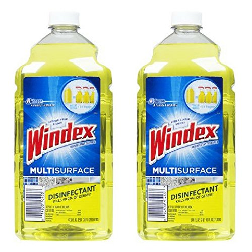 - Windex Disinfectant Cleaner Multi-Surface Refill 67.6floz (2 Pack)