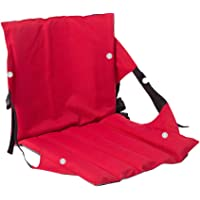 LIOOBO Multi-Function Cushion Outdoor Cushion with Backrest Folding Seat Cushion Leisure Folding Chair(Red)