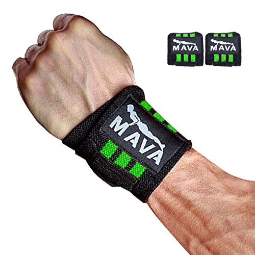 """UPC 641427670577, Strong Weight Lifting Wrist Straps for Wrist Pain During Lifting, Workouts, Exercise, Gym. Seet of 2 PR Wrist Wraps, 14"""", Green"""