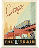 Anderson Design Group Poster Print entitled The L Train, Chicago, Illinois - Retro Travel Poster