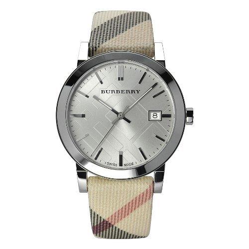 Burberry Women's Swiss Check Fabric Band Watch BU9022 Authentic Brand New