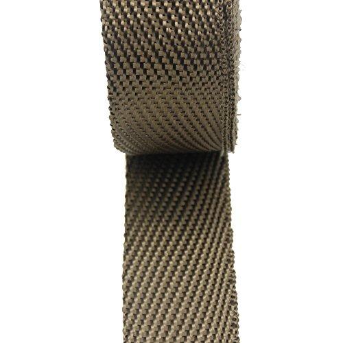 LEDAUT 2'' x 50' Twill Weave Motorcycle ATV Titanium Exhaust Heat Shield Wrap with 11.8'' Locking Ties (Pack of 15) by LEDAUT (Image #4)