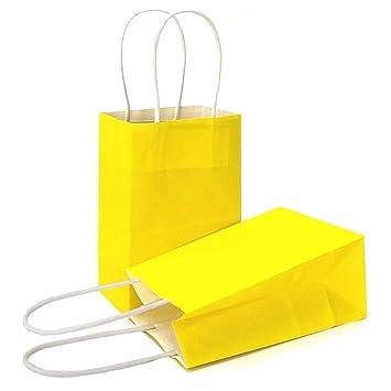 Amazon.com: AZOWA Bolsas de regalo de papel kraft con asas ...