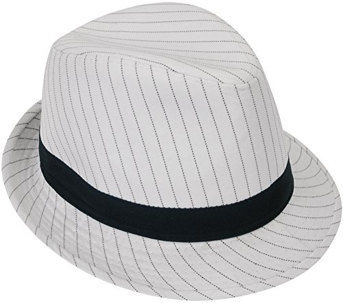 - Loftus International Loftus 1920S Gangster Mob Boss Costume Pinstripe Fedora, White Black, One Size Novelty Item