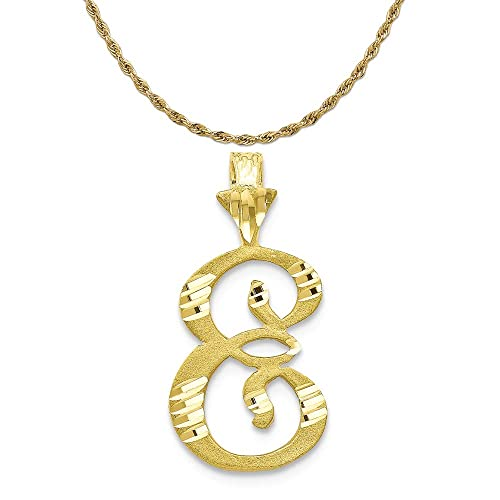 14k Yellow Gold Initial E Charm