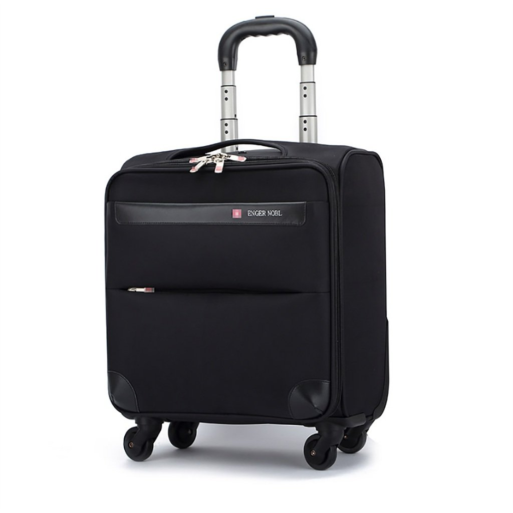 スーツケース トロリーケース4輪車輪出張旅行屋外トロリーバッグ大容量ライトトラベルバッグトラベルバッグドラッグバッグハンドバッグトランク旅客ボックス (色 : Black)   B07FMHHHCV