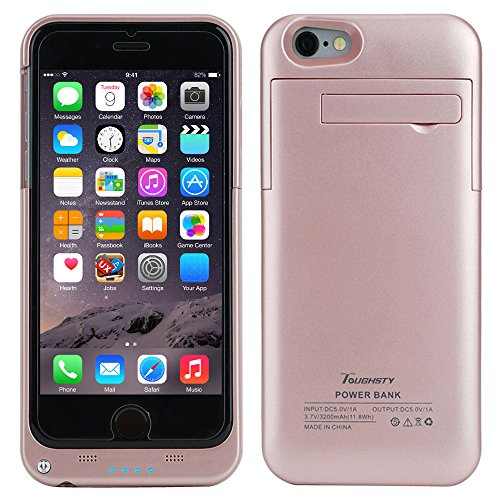 Toughsty™ 4800mAh External Backup Battery Charger Cases Pack Portable Protective Power Bank Case Cover for iPhone 6/6s Plus
