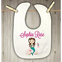 Baby Bib for Girls - Personalized Mermaid Bib