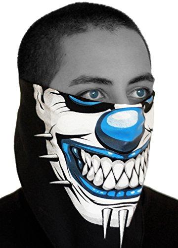 Graphic Mask Face Motorcycle (SFYNX 'Evil Clown' EDM Face Mask - Blue Rave Bandana)