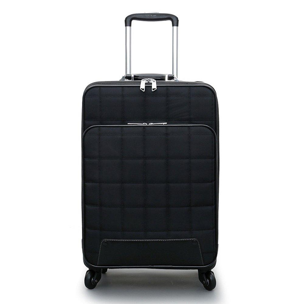 スーツケース 男性と女性のPUレザーアルミプルロッド荷物ビジネスポータブルミュートホイール耐摩耗性防水スーツケース20インチ24インチ 軽量 静音 TSAロック搭載 ファスナータイプ 機内持ち込みスーツケース (サイズ : 24) B07SKG72N9  24