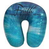 Faith Make Things Possible Not Easy Super Comfortable U Type Pillow Neck Pillow Relex Pillow Travel Pillow With Resilient Material